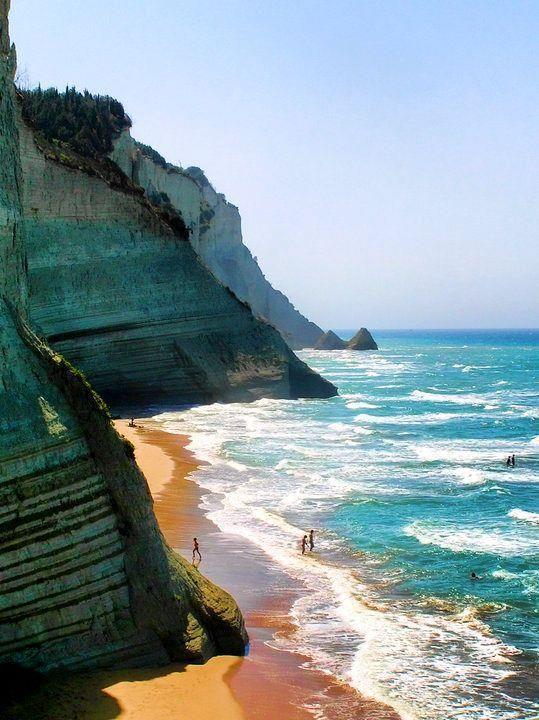 corfu loggas beach